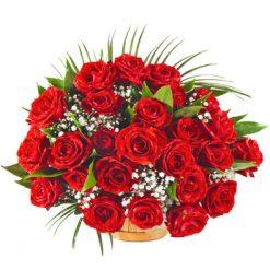 Buy Fresh Basket of Red Roses