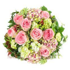 roses and alstromerias