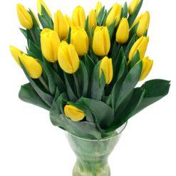 19 Yellow Tulips Bouquet